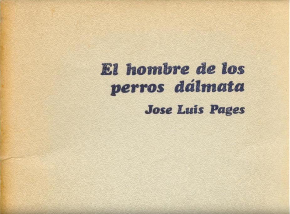 El hombre de los perros dálmata - Jose Luis Pages